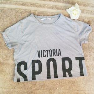 Victoria Sport Gray Crop top